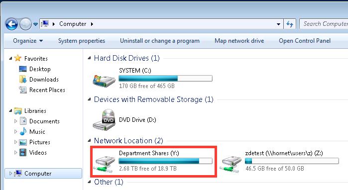 ADIT file share screenshot