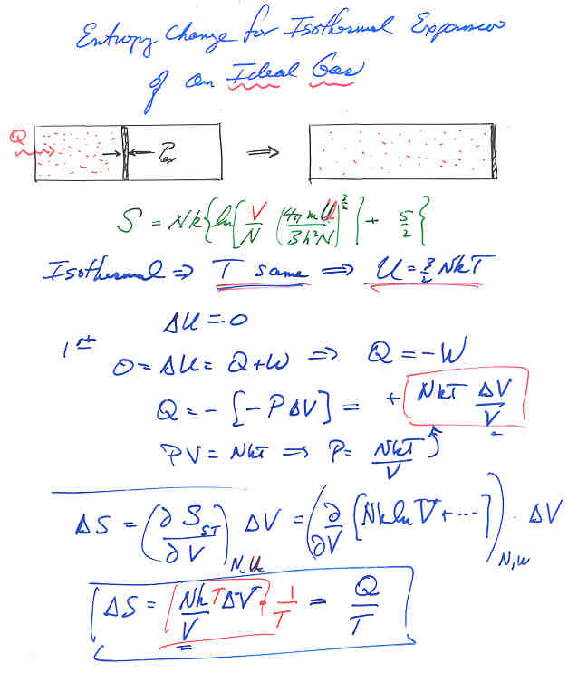 Phgn341 lecture notes entropy change for isothermal expansion of an ideal gas ccuart Gallery