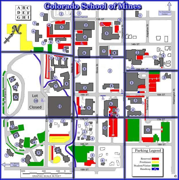 Colorado School Of Mines Campus Map TY Cath / CSM Colorado School Of Mines Campus Map